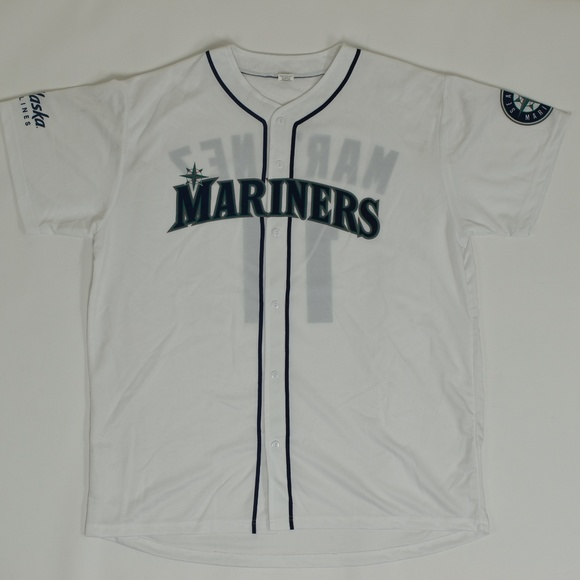 new style 97728 9ec35 Seattle Mariners Regular XL White Jersey Polyes